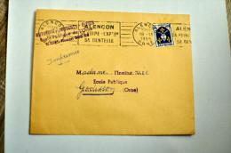 """Lettre, Blason Saintonge, Flamme RBV Alençon """"Sa Foire, Sa Dentelle"""", Alençon (Orne) , 18-11-1955 - Marcophilie (Lettres)"""