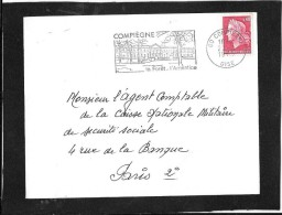 FLAMME  PERMANENTE   60  COMPIEGNE - Postmark Collection (Covers)