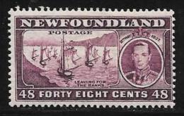 Newfoundland, Scott # 243c Mint Hinged Fishing Fleet,1937 - Newfoundland
