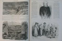 MONDE ILLUSTRE 1866N°505:Décés De GAVARNI/BADAJOZ LISBONNE/BUENOS-AIRES/ LE HAVRE/PARIS Incendie Th. Des Nouveautes - 1850 - 1899