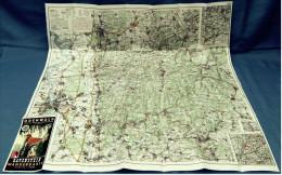 Ca. 1980  Wanderkarte Und Wanderführer Odenwald  -  Von Ravenstein 1: 100 000  - - Maps Of The World