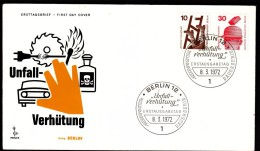 Germany Berlin 1972 / Security Safety Saw Car Electricity Alcohol Fire - Automobili