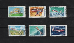 1987 - Planeurs Et Avion Ligers Mi No 4353/4358 Et Yv No 301/306 - 1948-.... Repúblicas