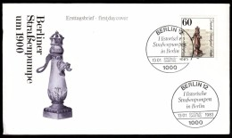 Germany Berlin 1983 / Historical Street Water Pumps In Berlin