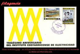 AMERICA. COSTA RICA SPD-FDC. 1979 XXX ANIVERSARIO DEL INSTITUTO COSTARRICENSE DE ELECTRICIDAD - Costa Rica