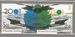 EUROPA 2001 Croatia Water Mi 570 - 571 MNH (**) #19227 - Croatie
