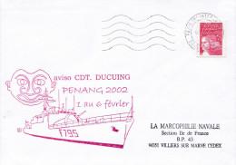 LETTRE AVISO CDT  DUCUING PENANG 2002 - Marcophilie (Lettres)