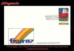 AMERICA. CHILE SPD-FDC. 1987 XXV FERIA INTERNACIONAL DE SANTIAGO DE CHILE - Cile