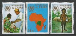 Zaire - 800/802 - Unicef - 1971 - MNH - Zaire