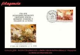 AMERICA. CHILE SPD-FDC. 1978 BICENTENARIO DEL LIBERTADOR BERNARDO O'HIGGINS - Cile