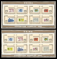 Zaire - Feuillet De Luxe - LX1050/1065 - Papier Epais - Phibelza - 1980 - MNH - Zaïre
