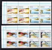 1991  Tourisme ; Pirogue, île De Gorée, Hôtel Boufflers, La Plage, 923 / 926 ** # Avec Bord - Senegal (1960-...)