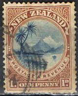 NUOVA ZELANDA - 1898 - LAGO TAUPO - USATO - Gebruikt