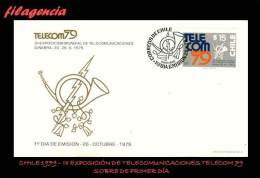 AMERICA. CHILE SPD-FDC. 1979 III EXPOSICIÓN DE TELECOMUNICACIONES TELECOM 79 - Cile