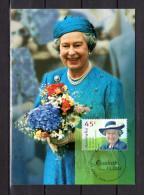 """AUSTRALIE 1998 : Carte Maximum Et PAP Neuf """" ANNIVERSAIRE DE LA REINE ELIZABETH """". Parfait état. CM - Familles Royales"""