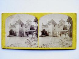 Stereoscopic Photographs Chateau Castle Genece Suisse - Stereoscopische Kaarten