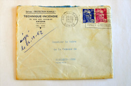 "Lettre, Gandon, Amiens Gare, Flamme ""Amiens Macarons"", 24-10-1952 - Marcophilie (Lettres)"