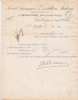 Lettre 29/5/1914 G DRIANCOURT SA De La Distillerie Moderne ST QUENTIN AIsne - Cidre - France