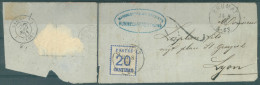 NORDDT. POSTBEZIRK - 1871 - 2 FRAGMENTS - DEPART BRUMAT 25.8.1871 ARRIVEE LYON 28.8.1871 - Mi 16 I EF -  Lot 13437 - Conf. De L' All. Du Nord
