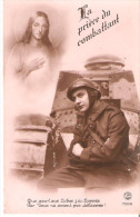 Carte Postale La Priere Du Combatant Jesus Soldat Char - France