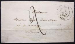 CACHET TYPE 13  --  DAX  --  LANDES  --  LSC  --  1846 - Poststempel (Briefe)