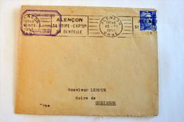 Lettre, Gandon N°716, Flamme RBV Paris (Rue Balzac) à Destination De Mme Voillemin A Ecouvier (Meuse) - 20-11-1947 - Marcophilie (Lettres)