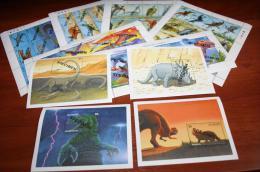 Prehistoric  Dinosaur  ST. Vincent Overprint  SPECIMEN - Stamps