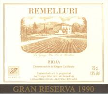 Lot 12 étiquettes Vins Cave REMELLURI Rioja Espagne - Dont 1 Pour Bouteille Impériale De 600 Ml. - Collections, Lots & Séries