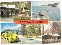 Pozdrav Iz Umaga:   Tourist Train -  Umag-Pelegrin-Zlatorog - (YU) - Treinen