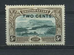 BRITISH  GUIANA    1899    2c  On  5c   Deep  Green  And  Sepia    MH (no Gum ) - British Guiana (...-1966)