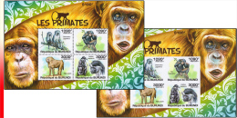 Burundi BL 0178** Et 178ND** - Les Primates - MNH - Singes