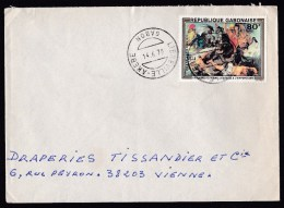 Gabon: Cover To France, 1978, Single Franking, Painting Rubens, Rare Real Use! (traces Of Use) - Gabon (1960-...)