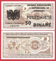 Serbia - Kosovo 50 Dinara 1999 Unc - Serbia