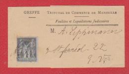Bande Pour Journal  / Tribunal De Commerce De Marseille / - Newspapers