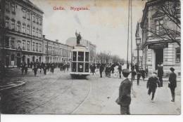 Gefle (Suède - Sweden) Nygatan (voyagé 1911) Tramway - Zweden