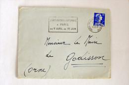 """Muller 1011B, Flamme """"L'Art Ancien Japonais.."""", Paris (Tri & Distribution N°16)  - 02-05-1958 - Marcophilie (Lettres)"""