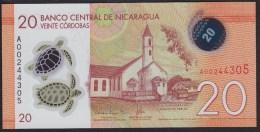 Nicaragua 20 Cordobas 2015 Pnew UNC - Nicaragua