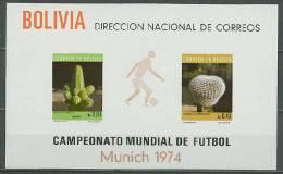 Bolivia 1973 Football Soccer World Cup S/s MNH -scarce- - Coppa Del Mondo