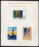 URUGUAY 1964 ** Nubische Denkmäler - Block 5 MNH - Archäologie