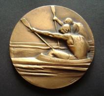 1968 FIC  ROMA  FIUMICINO  ENORME MODULO SPORT CANOTTAGGIO CANOA REGATA REMI MEDAGLIA  MEDAL - Rowing