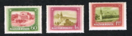 UNGHERIA (HUNGARY)  -  SG 1212.1214  - 1952 VIEWS OF MOSCOW (COMPLET SET OF 3)      - MINT** - Ungheria
