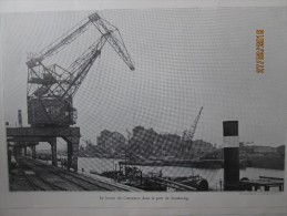 Le Port De Strasbourg 1936 Le Bassin Du Commerce  +filatures à MALMERSPACH - France
