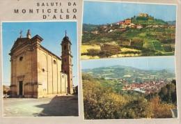 CT--N--1390--  SALUTI DA MONTICELLO D'ALBA    3  VEDUTE - Cuneo