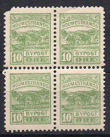 Norway Local Post Holmestrand, 10 øre X 4 In Bloc  MNH(**) - Lokale Uitgaven