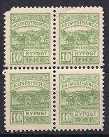 Norway Local Post Holmestrand, 10 øre X 4 In Bloc  MNH(**) - Ortsausgaben