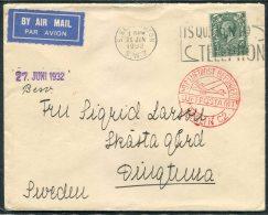 1932 GB KG5 4d South Kensington Telephone Slogan Aimail Cover Luftpostamt Berlin - Sweden - 1902-1951 (Kings)