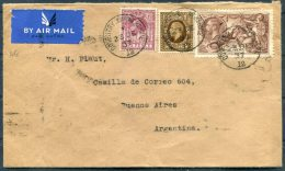 1937 GB KG5 Seahorse Coventry Airmail Cover - Argentina - 1902-1951 (Kings)