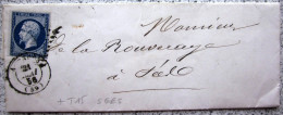CACHET TYPE 15 + PC 45 + T 15 SEES  --  ALENCON  --  ORNE  --  LAC  --  1856 - Marcophilie (Lettres)