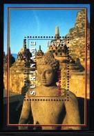 Surinam MNH Scott #1147 Souvenir Sheet 675f Statue, Borobudur Temple, Indonesia - Surinam