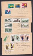Lot DDR Meist Sondermarken-Ausgaben Auf Satzbrief , U.a. Mi. 1214/20 Zdr. Vollblutmeeting Pferde Plauener Spitze - Lettere